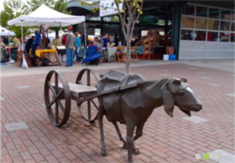 Downtown Market - goat statue